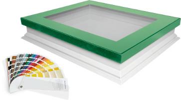 F típusú sík felülvilágító ablakok, kupola nélkül